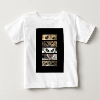 ベビーのTシャツ-動物の目 ベビーTシャツ