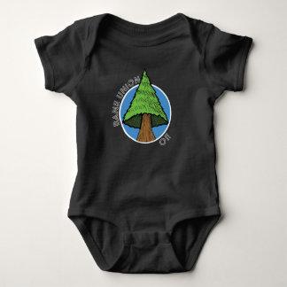 ベビーのTシャツ-命とり連合木の歌 ベビーボディスーツ
