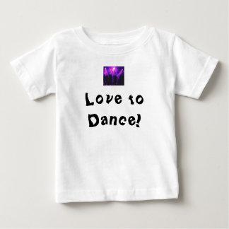 ベビーのTシャツw/Danceのパーティーのロゴを踊る愛 ベビーTシャツ