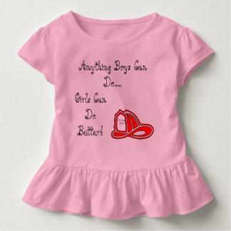 ベビーはまたは私達が48/96の何でも男の子住んでいる女の子をちょこちょこ歩きます トドラーTシャツ