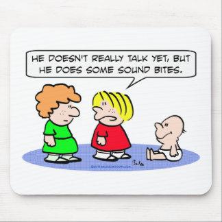 ベビーはサウンドバイトを話すことができません マウスパッド