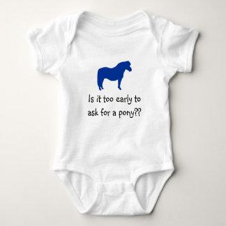 ベビーは子馬がほしいと思います ベビーボディスーツ