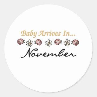 ベビーは11月に着きます ラウンドシール