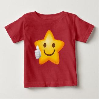 ベビーはEmojiの星の上で手早くめくります ベビーTシャツ