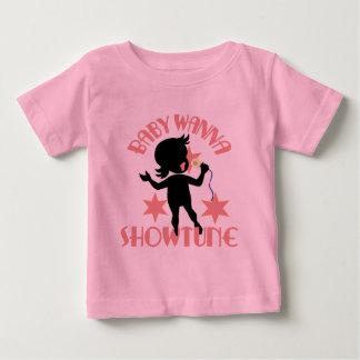 ベビーはShowtune (女の子)の幼児Tシャツにほしいです ベビーTシャツ