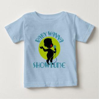 ベビーはShowtune (男の子)の幼児Tシャツにほしいです ベビーTシャツ