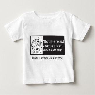 ベビーもホームレス犬を救済できます ベビーTシャツ