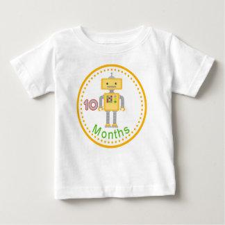 ベビーを取るための月例ベビーのワイシャツは10月曜日を描きます ベビーTシャツ