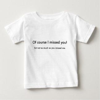 -ベビーを恋しく思われる ベビーTシャツ
