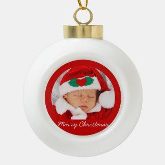 ベビーを持つクリスマスの球のオーナメント セラミックボールオーナメント
