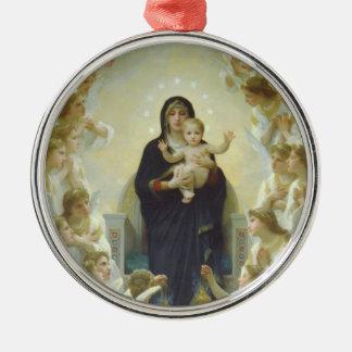 ベビーイエス・キリストおよび天使の聖母マリア メタルオーナメント