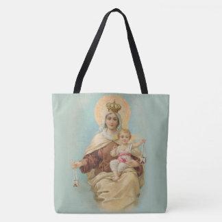 ベビーイエス・キリストが付いているカルメル山の私達の女性 トートバッグ