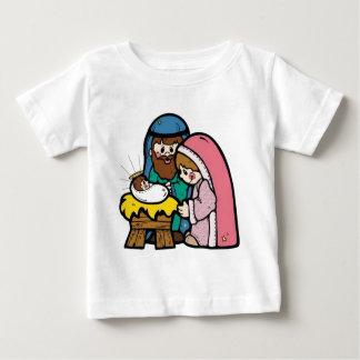 ベビーイエス・キリストとの出生場面 ベビーTシャツ