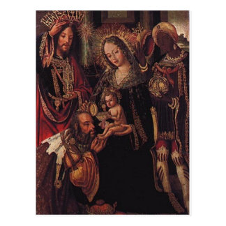 ベビーイエス・キリストを訪問している賢者 ポストカード