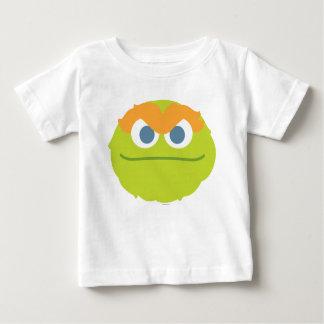 ベビーオスカー不機嫌の大きい顔 ベビーTシャツ