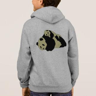 ベビーカブスと抱きしめているかわいいパンダ パーカ