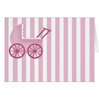 ベビーカーカード(ピンク) カード