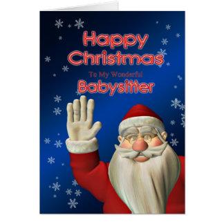 ベビーシッターのため、サンタの振ること カード