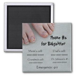 ベビーシッターの電話#磁石 マグネット