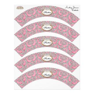 ベビーシャワーのカップケーキの装飾-王室のなプリンセスの王冠 チラシ