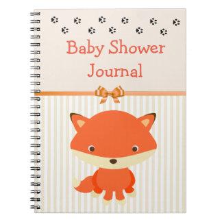 ベビーシャワーのノートジャーナル、森林動物のテーマ ノートブック