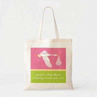 ベビーシャワーのバッグ-ピンクおよび緑 トートバッグ