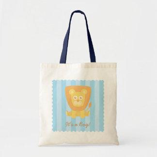 ベビーシャワーのパーティの記念品-かわいい漫画のライオン トートバッグ