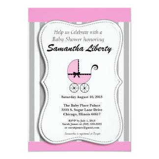 ベビーシャワーの招待状のピンク カード