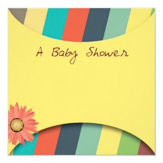 ベビーシャワーの招待 13.3 スクエアインビテーションカード