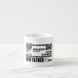 ベビーシャワーの新しい父のパパ及びDaddys: 質 エスプレッソカップ