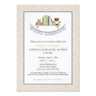 ベビーシャワーの本のテーマのユニセックスな招待状 カード