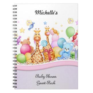 ベビーシャワーの来客名簿のノート ノートブック