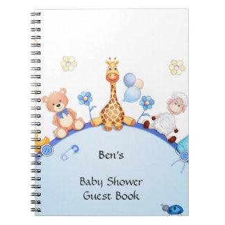 ベビーシャワーの来客名簿の螺線形のノート ノートブック