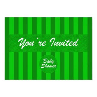 ベビーシャワーの緑の招待状 カード