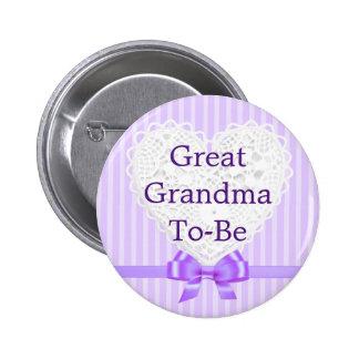 ベビーシャワーボタンがある紫色の曾祖母 5.7CM 丸型バッジ