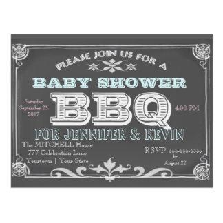 ベビーシャワー| BBQ |の黒板 ポストカード