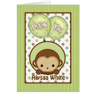 ベビーシャワーMPPv4の緑を感謝していしていますメッセージカードまねて下さい カード