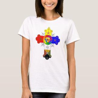 ベビードールのばら色の十字のLamenの合われたワイシャツ Tシャツ