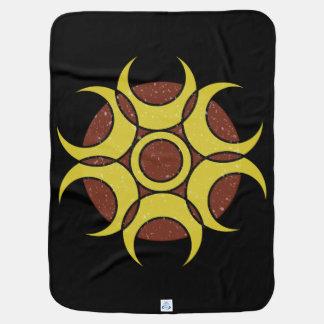 ベビーブランケットのグランジな円のロゴ ベビー ブランケット