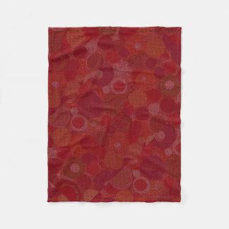 ベビーブランケットの円の赤いデザイン フリースブランケット