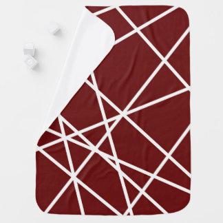 ベビーブランケットの白の抽象芸術ライン ベビー ブランケット