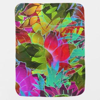 ベビーブランケットの花柄の抽象芸術のアートワーク ベビー ブランケット