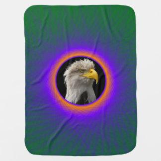ベビーブランケットの青緑および銅の窓 ベビー ブランケット