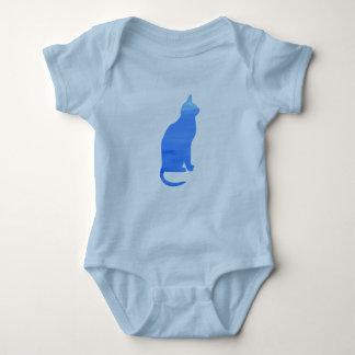 ベビーボディのための青猫-スカイブルーのベビーの服装 ベビーボディスーツ
