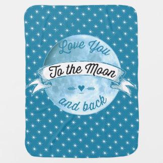 ベビー愛月および背部星パターンへの ベビー ブランケット