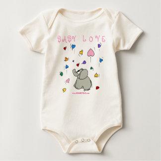 ベビー愛(ピンクかワイシャツ ベビーボディスーツ
