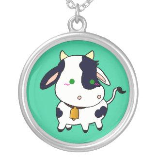 ベビー牛 シルバープレートネックレス