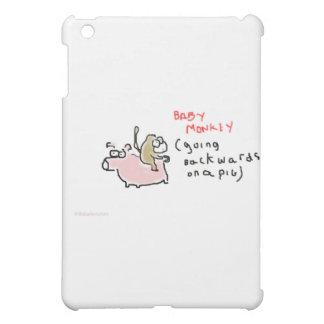 ベビー猿(ブタで後方に乗っている) iPad MINI カバー