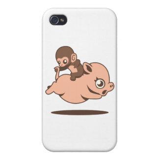 ベビー猿(ブタで退歩している) iPhone 4/4S COVER