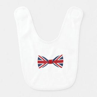 ベビー用ビブ-英国国旗のちょうネクタイ ベビービブ